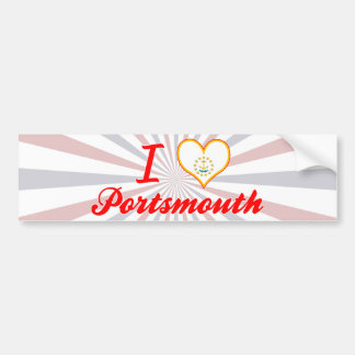 I Love Portsmouth, Rhode Island Bumper Sticker