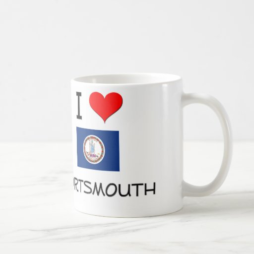 I Love Portsmouth Virginia Classic White Coffee Mug