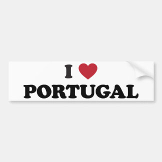 I Love Portugal Bumper Sticker