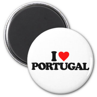 I LOVE PORTUGAL 2 INCH ROUND MAGNET