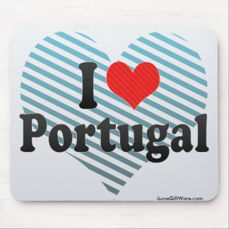 I Love Portugal Mouse Pads