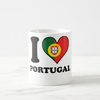 I Love Portugal Portuguese Flag Heart Coffee Mug