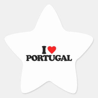 I LOVE PORTUGAL STAR STICKERS