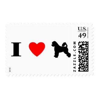 I Love Portuguese Water Dogs Stamps