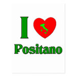 I Love Positano Italy Postcard