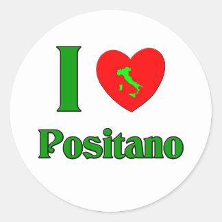 I Love Positano Italy Round Sticker