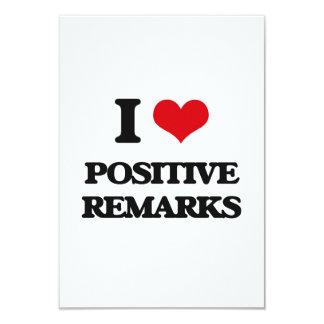 "I Love Positive Remarks 3.5"" X 5"" Invitation Card"