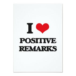 "I Love Positive Remarks 5"" X 7"" Invitation Card"