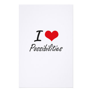 I Love Possibilities Stationery