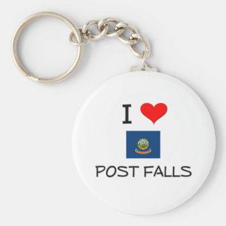 I Love POST FALLS Idaho Key Chain