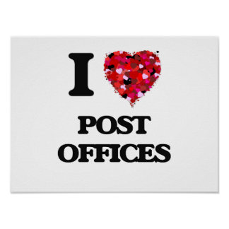 I love Post Offices Poster