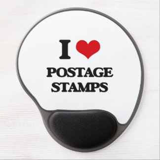 I Love Postage Stamps Gel Mouse Pad