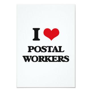 I love Postal Workers 3.5x5 Paper Invitation Card