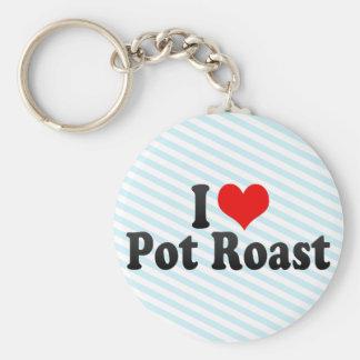 I Love Pot Roast Keychain