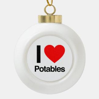 i love potables ornaments