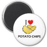 I Love Potato Chips Refrigerator Magnet