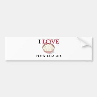 I Love Potato Salad Bumper Stickers