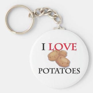 I Love Potatoes Key Chain