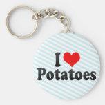 I Love Potatoes Keychain