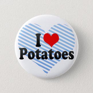 I Love Potatoes Pinback Button