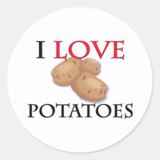 I Love Potatoes Stickers