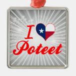 I Love Poteet, Texas Christmas Tree Ornament