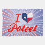 I Love Poteet, Texas Hand Towels