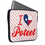I Love Poteet, Texas Laptop Computer Sleeve