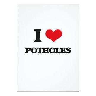 """I Love Potholes 5"""" X 7"""" Invitation Card"""