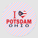 I love Potsdam, Ohio Round Sticker