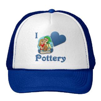 I Love Pottery #2 Mesh Hat