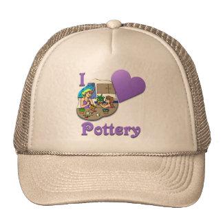 I Love Pottery #3 Trucker Hats