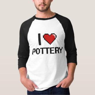 I Love Pottery Digital Retro Design T-Shirt
