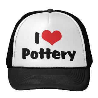 I Love Pottery Mesh Hats