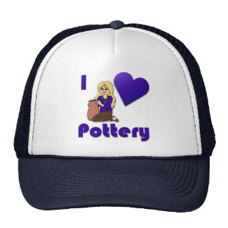 I Love Pottery Hat