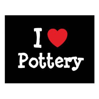 I love Pottery heart custom personalized Postcard