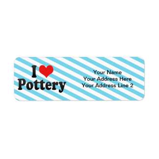 I Love Pottery Return Address Label