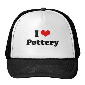 I Love Pottery Tshirt Hats