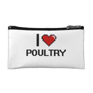 I Love Poultry Makeup Bag