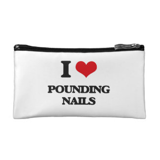 I love Pounding Nails Cosmetic Bag
