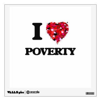 I love Poverty New Jersey Wall Sticker