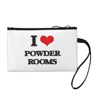 I Love Powder Rooms Coin Wallets