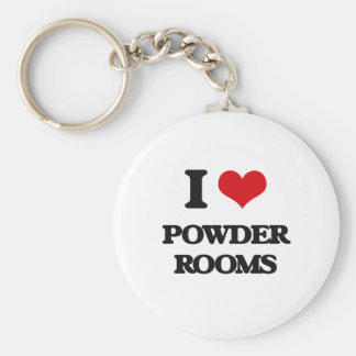 I Love Powder Rooms Basic Round Button Keychain