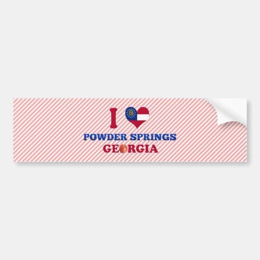 I Love Powder Springs, Georgia Car Bumper Sticker