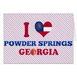 I Love Powder Springs, Georgia Greeting Card