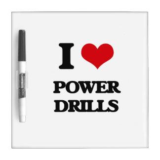 I love Power Drills Dry-Erase Boards