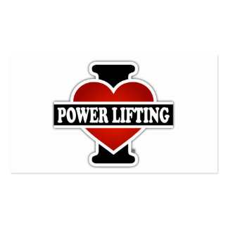 I Love Power Lifting Business Card
