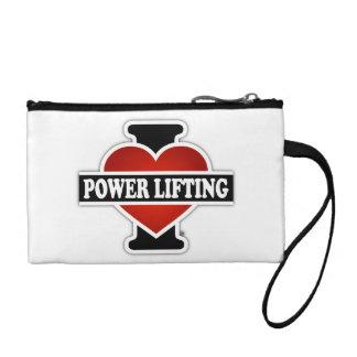 I Love Power Lifting Change Purse