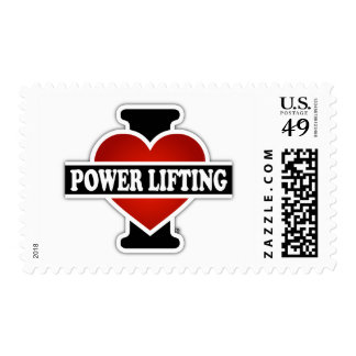 I Love Power Lifting Postage Stamp