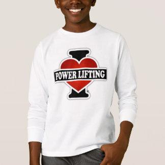 I Love Power Lifting T-Shirt